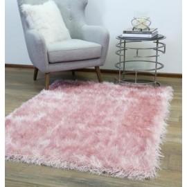 Velved Pink Shag Rug