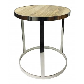 Wood and Steel Aphrodite Coffee Table