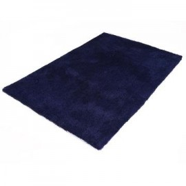 Kola Navy Blue Shaggy Rug