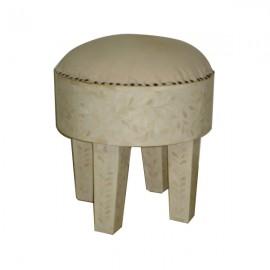 Canvas with Bone inlay stool