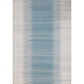 Blue color Viscose Kilim with backing