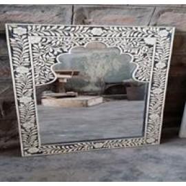 Designed Bone Inlay Mirror