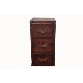 Leather 3 Drawer